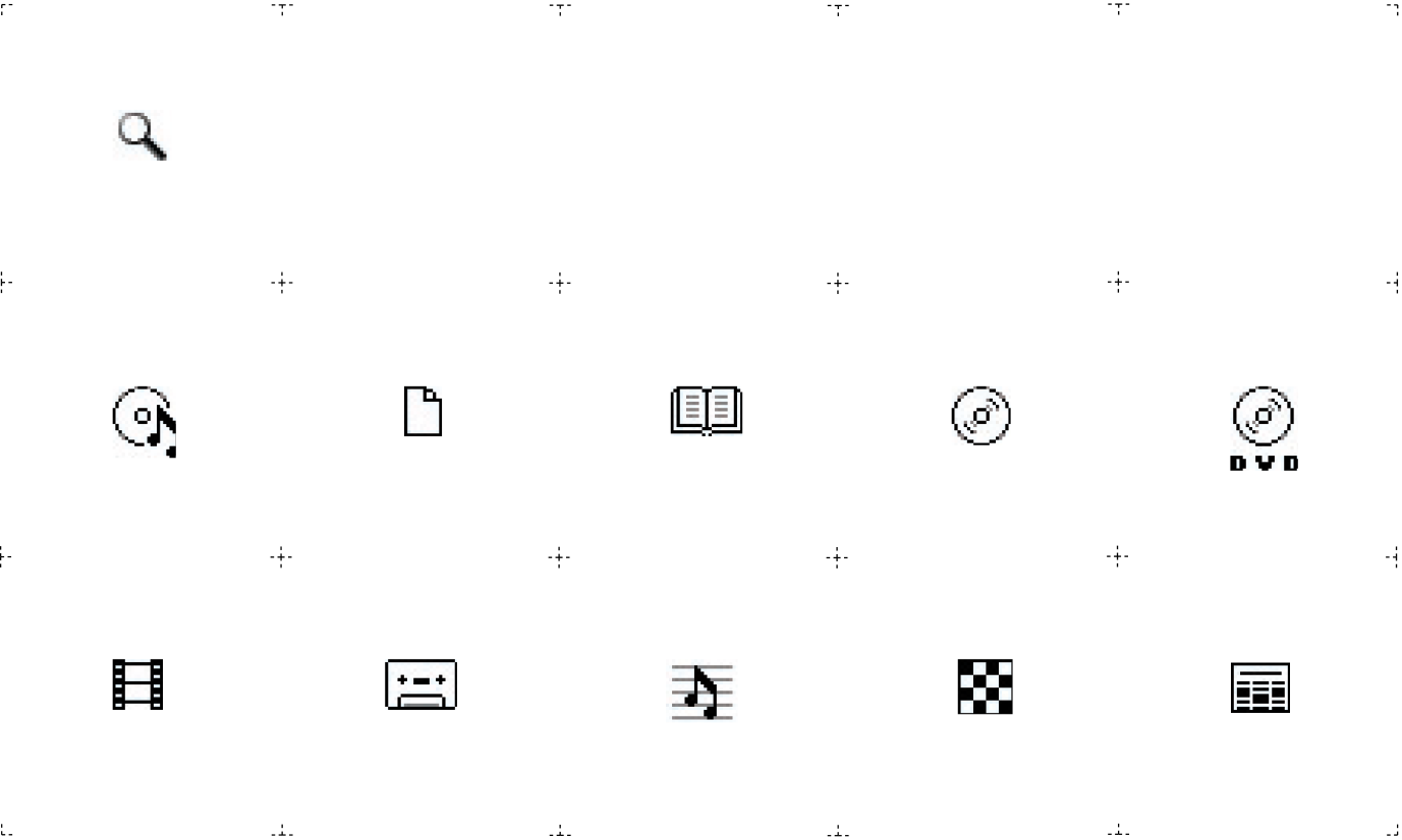 Media type icons help users identify the right medium right away.